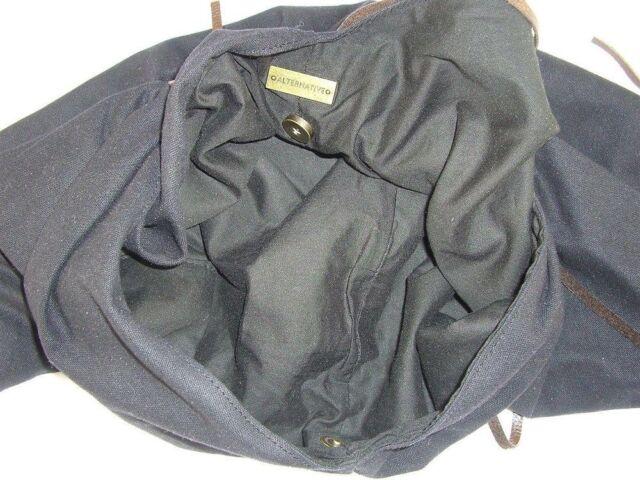 0dea40762be Alternative Apparel Adler Black Canvas Draped Extra Large Shoulder Bag    eBay
