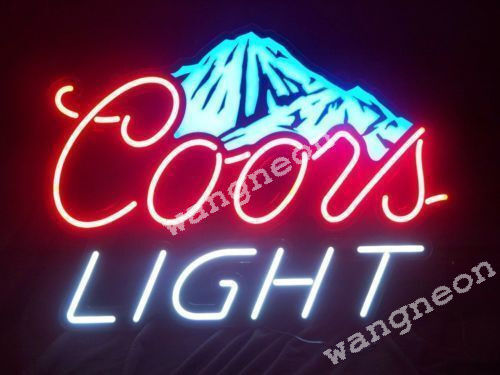 RARE New Coors Light Mountain Dew Logo Neon Sign Beer Bud Light FAST FREE SHIP