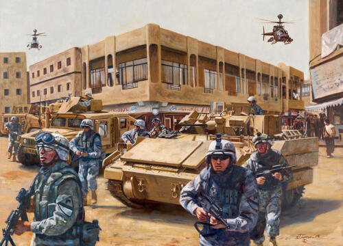 "Operation Samson /""Ghost Battalion/"" Don Stivers Limited Edition Giclee Print"