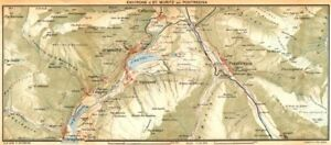SWITZERLAND-Environs-of-St-Moritz-and-Pontresina-1930-old-vintage-map-chart