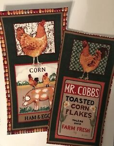 XL-Good-Morning-Farm-Patches-Iron-On-Fabric-Appliques-Fall-Chickens-Corn