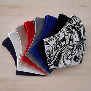 Face Mask Cotton Fabric Cloth 8 Colours Washable Reusable Filter 3 sizes AU Made