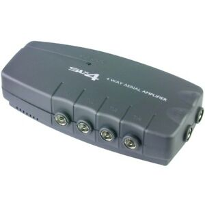 TV-Booster-4-way-tv-aerial-amplifier-plug-in-Philex-slx-27820hsr-freeview-boost
