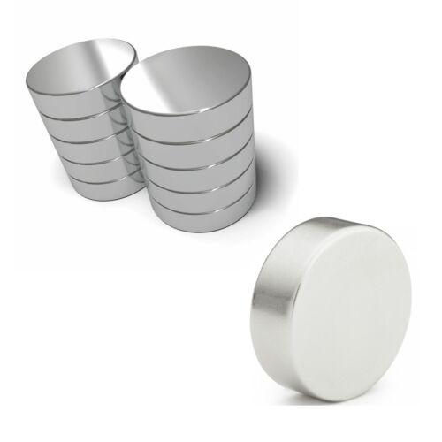 10 x Neodymium Strong Round Magnets Craft Super Disc Rare Earth NdFeb Grade N35