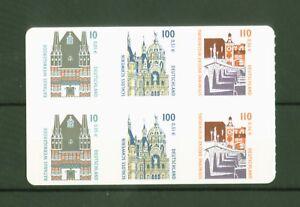 Deutschland-Germany-2001-Sehenswuerdigkeiten-teilgezaehnt-Nr-2187-89-BC-BD
