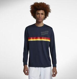 pero no vulgar venta directa de fábrica nuevo alto Nike SB X Quartersnacks Dry Men's Long Sleeve Shirt - AO4449 451 ...