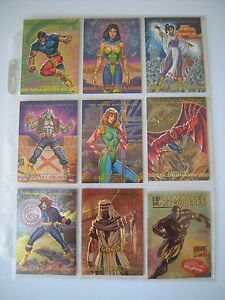 MARVEL-MASTERPIECES-93-SET-COMPLET-S1-A-S8-BONUS-CARDS-CHROMIUM