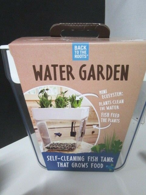 BACK TO THE ROOTS WATER GARDEN  AQUAPONICS KIT 3 GALLON FISH TANK NEW