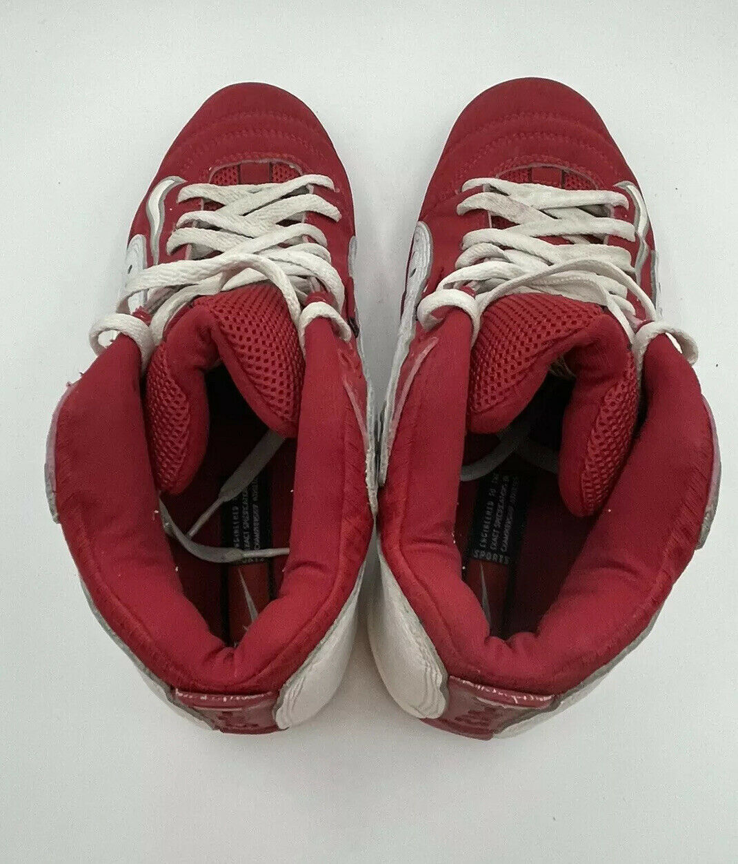 NIKE Air Team 2.0 Basketball Red White 90s Shoes … - image 11