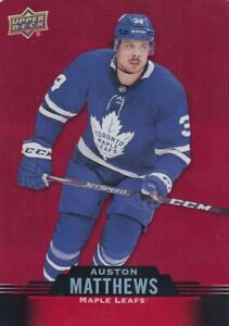 AUSTON MATTHEWS NO:DC-19 DIE CUT in UPPER DECK TIM HORTONS 2020-21       a