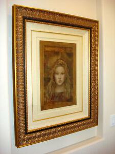 CSABA-MARKUS-ILLYRIAN-PRINCESS-ORIGINAL-OIL-Painting-on-Paper-RARE-SOLD-OUT