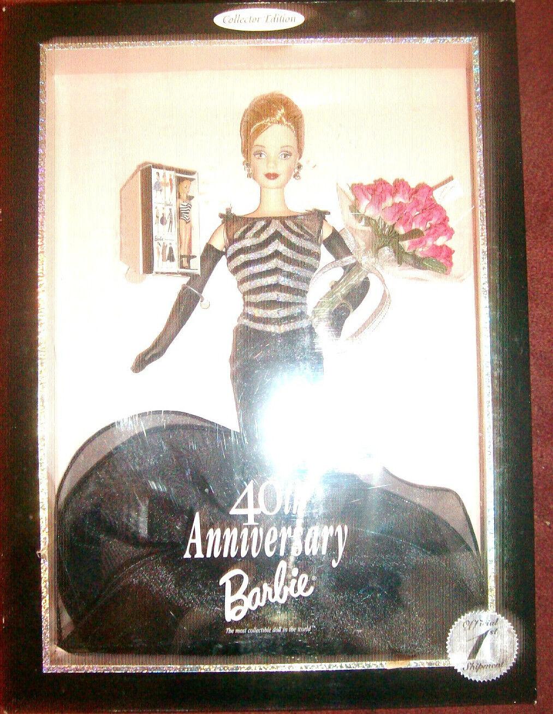 40th aniversario Barbie sello oficial de envío 1st 1999 Raro