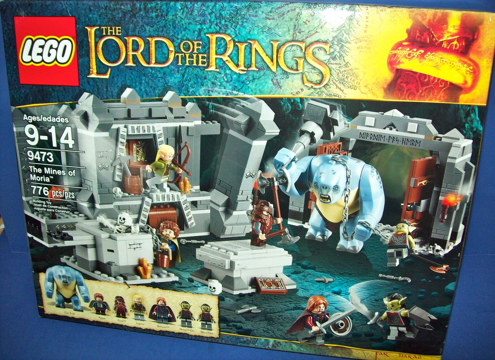 LEGO 9473 MINES of MORIA Lord of the Rings new in sealed box Retired Cave Troll