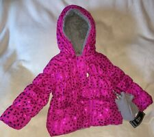 R 1881 S.Rothschild Girls' Foil RUBI Heart Print Jacket with Mittens Size 3T NEW