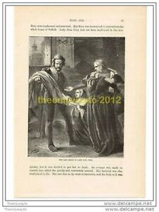 LAST RELICS OF LADY JANE GREY, ENGLAND,  c1554, Book Illust c1870