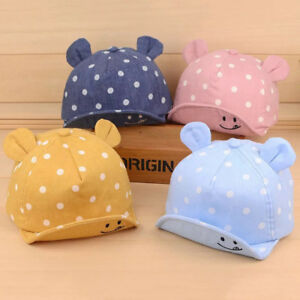 7b9139b75a9f8 Cute Infant Toddler Kids Baby Caps Girl Boys Summer Sun Hats Cotton ...