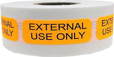 External Use Only Labels 0 5 X 1 5 Inches Wide 500 Pack Ebay