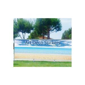 Brise vue imprimé, jardin, terrasse, balcon déco Mer Plage 9139 | eBay