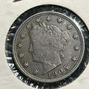 1905-LIBERTY-NICKEL-BETTER-GRADE-COIN