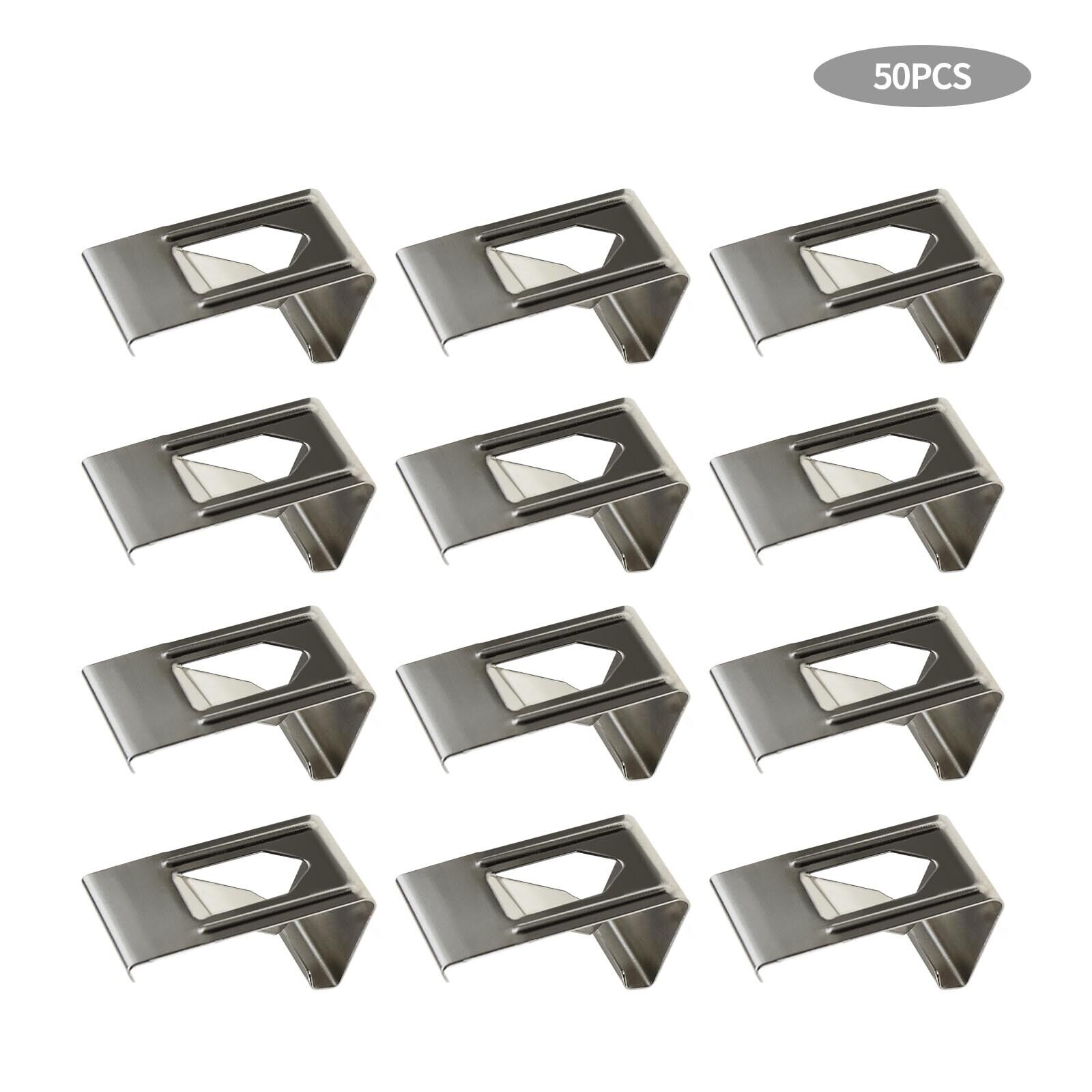 50Pcs Silver Spring Turn Clips Holders for 3D Printer Heated Bed Fixation