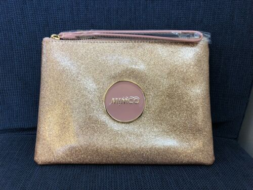 Mimco SHIMMER MEDIUM POUCH Rose Gold Leather Authentic New with tag RRP89.95