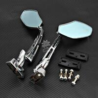 Universal Chrome Rearview Mirrors For Honda Cb 250 450 650 700 750 Nighthawk
