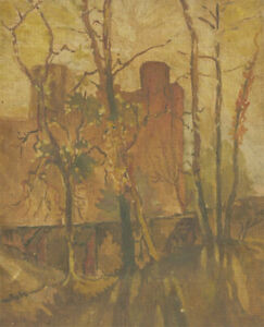 Early 20th Century Oil - The Castle in The Trees