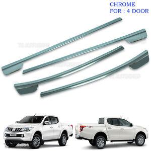 Chrome 4dr Line Window Sill Cover Trim For Mitsubishi L200