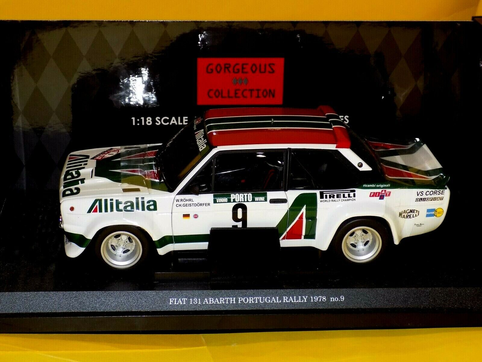 FIAT 131 ABARTH N 9 PORTUGAL 1978 ALITALIA ROHRL GEISTDORFER KYOSHO 08371B 1 18