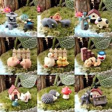 Dollhouse Miniature Natural Wood Mailbox With Decal Fairy Garden Decor 1//12