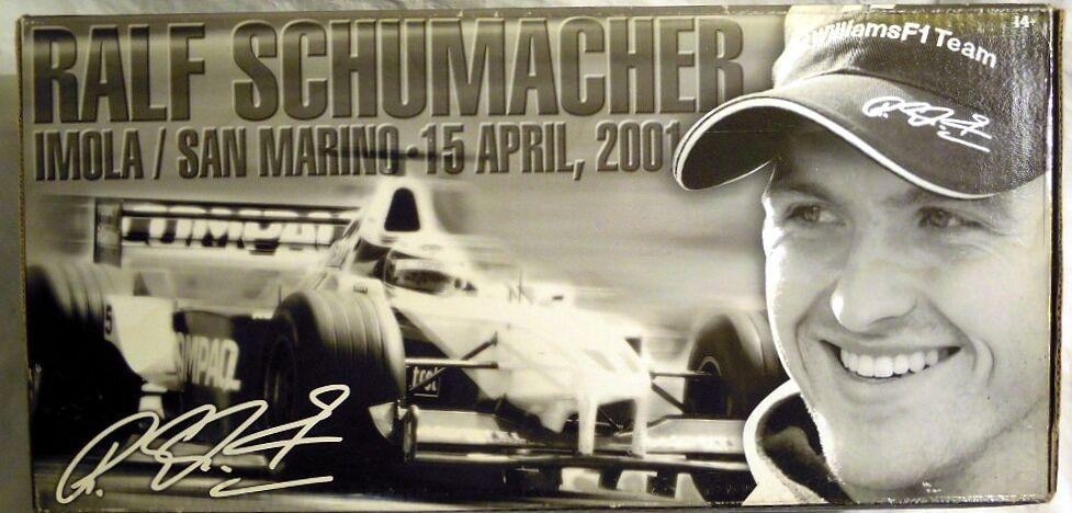 Hot Wheels 55697  f1 Williams,  5 R. Schumacher, IMOLA SAN MARINO 15 4 2001, NEUF