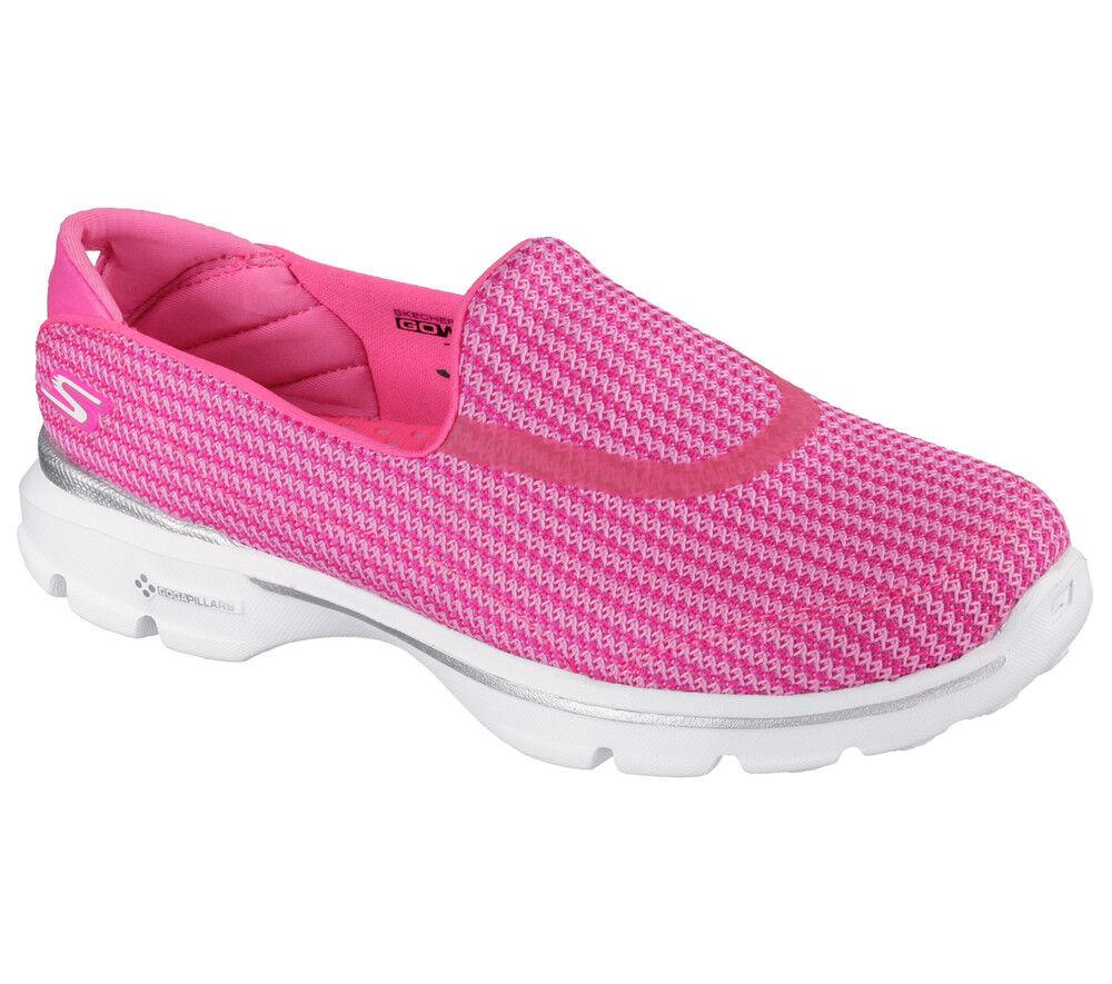 Descuento por tiempo limitado NEU SKECHERS Damen Fitness Sneakers Turnschuh Walking Memory Foam GO WALK 3 Pink