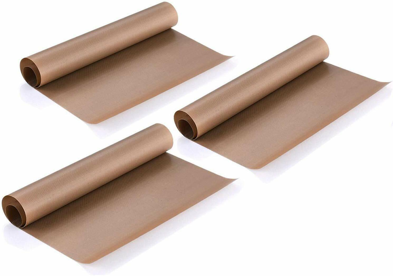 3 Reusable Teflon Transfer Sheets Heat Press Non Stick Iron Resistant Craft Cook