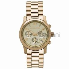 Michael Kors Original MK5055 Women's Runway Gold Stainless Chronograph Watch