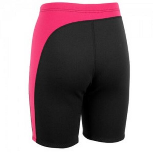 Ladies Aropec 2mm Neoprene Wetsuit Shorts Black//Silver with Blue or Pink