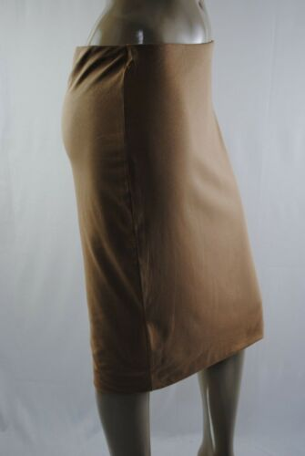 Womens Ex Store BodyCon Pencil Fit Knee Length Skirt Camel Brown Size 8 to 16