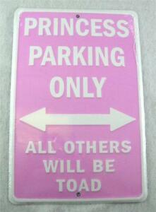 PINK-PRINCESS-PARKING-ONLY-ALL-OTHERS-WILL-BE-TOAD-METAL-SIGN-FREE-SHIPPING