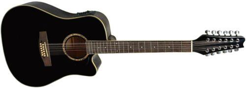 Gitarre//Westerngitarre-12Saiten-Dreadnought-TonabnehmerEQ-Anschlußkabel-2Modelle
