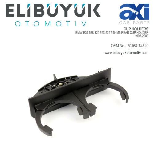 BMW E39 528 520 523 525 540 M5 REAR CUP HOLDER 1996-2003 51168184520
