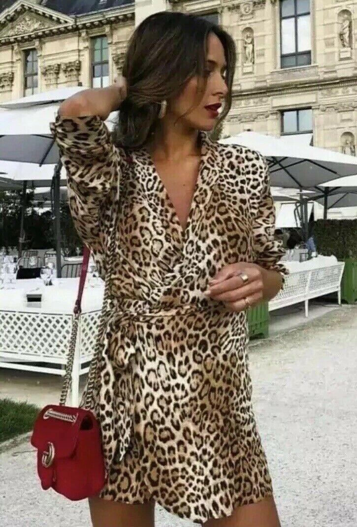 d78ca536203a Zara AW18 Woman Animal Print Jumpsuit Dress Size S,M,L 0003 301 NWT  nwwxcd8010-Dresses