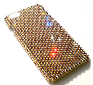 6b3251146 LUXE GOLD Golden Shadow Bling Back Case for iPhone 7 made w ...