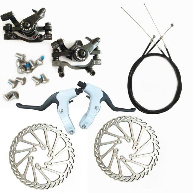 Mechanical Bike Disc Brake Set Front & Rear Caliper 160mm Rotor Bicycle MTB