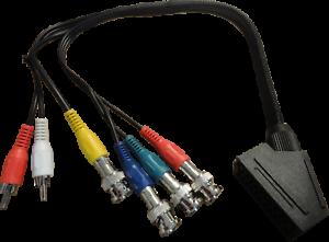 RGBS für SONY PVM BVM Monitor CSYNC SCART zu BNC Breakout Adapter Kabel RGB