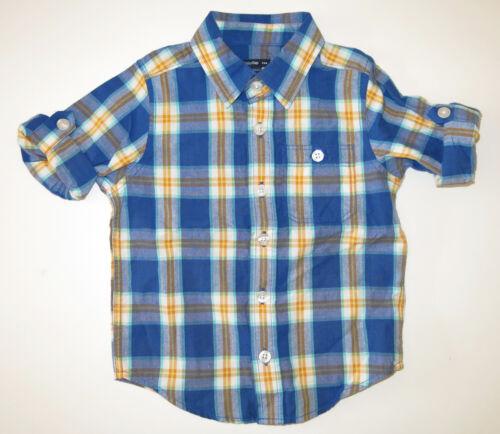 Baby Gap Retail Outlet boy toddler button up dress shirt top roll up long sleeve