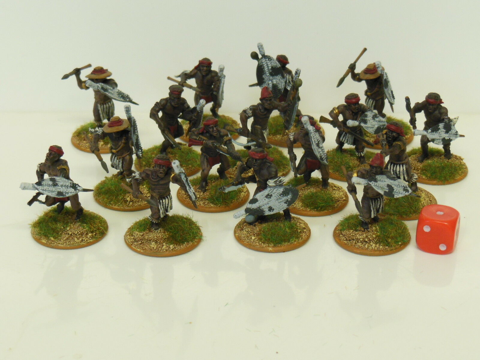 28mm Natal Native Contingent - Zulu Wars   Darkest Africa - Painted & Based (R2)