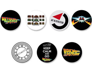 Lot Pack Badge Button Ø25mm Film Movie Retour vers le futur Back to the future
