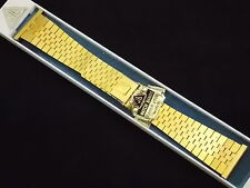 Vintage JB Champion 22mm Gold Tone watch band Extra Long 7 inch sliding clasp