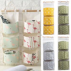 Cotton-Linen-Door-Wall-Hanging-Storage-Bag-Bathroom-Organizer-Pouch-Printed-Case