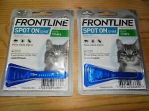 lot de 2 pipettes anti-parasitaires puces tiques FRONTLIN Spot On chat fipronil