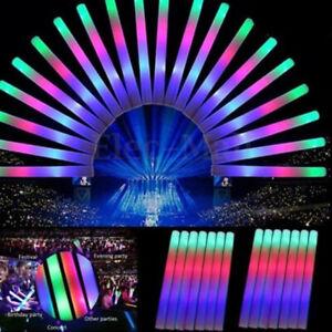 10pc-Light-Up-Foam-Sticks-LED-Wands-Rally-Rave-Batons-DJ-Flashing-Glow-Stick-xc